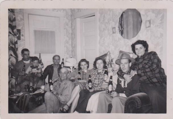 Schaaf Family Drinking Beers