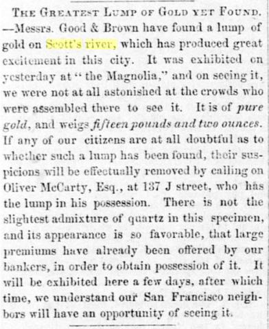 18510721SDU Brown and Good gold nugget 15lb 2oz