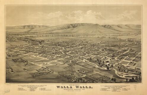 LOC 1876 Map Walla Walla