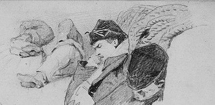 Men_Sleeping_on_Deck_of_Ship_(from_Scrapbook)_MET_217640