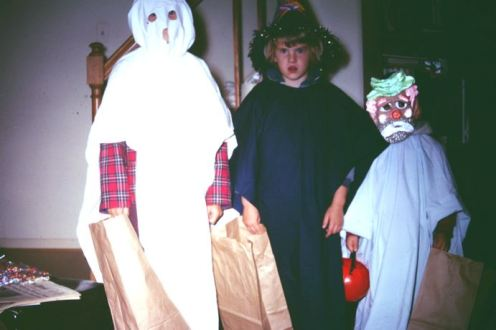 Steve, Eilene and Phil Halse, Halloween