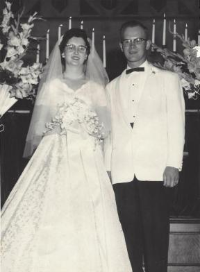 Halse-Smith wedding Aug 1957 Corvallis, OR