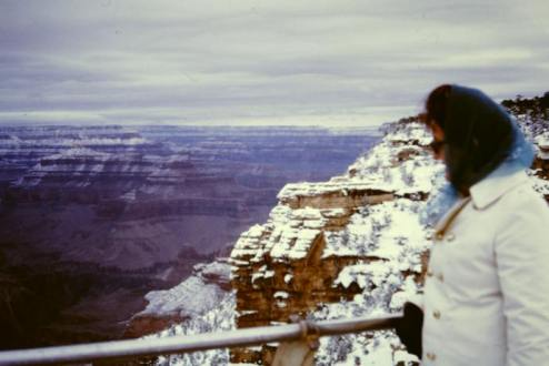 Sylvia Halse at the Grand Canyon