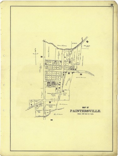 Plat of Paintersville 1896 LOC